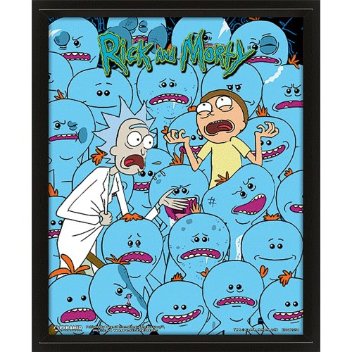 Rick And Morty (Mr. Meeseeks) 10X8 3D Lenticular Picture