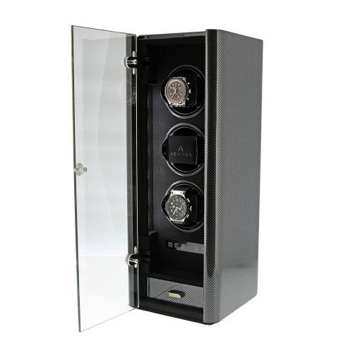 Aevitas Premium 3 Watch Winder Carbon Fibre Finish Classic Collection