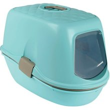 Trixie Berto Top Cat Litter Box With Roof/granite 39 × 42 × 59 cm Light - Tray -  trixie litter tray berto top separation system light blue taupe