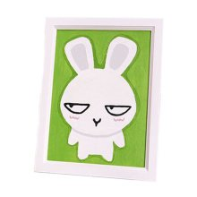 [Funny Bunny]DIY Art Digital Oil Painting with Wood Frame Wall Art(7.8*5.9'')