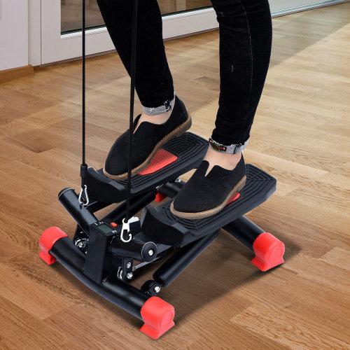 Homcom Mini Stepper Gym Exercise Arm Cord Training Machine (Red)