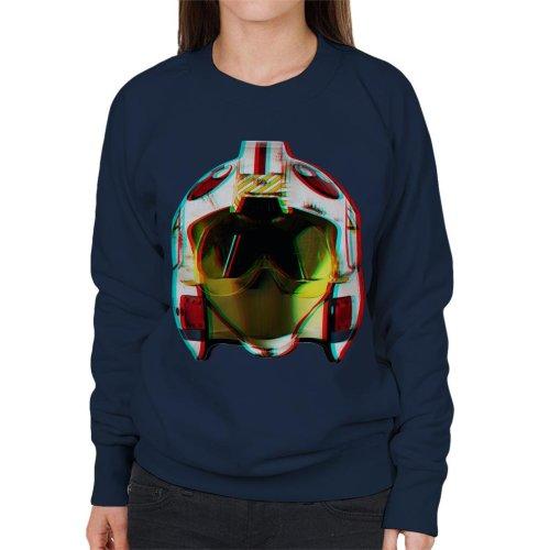 Original Stormtrooper Rebel Pilot Helmet 3D Effect Women's Sweatshirt