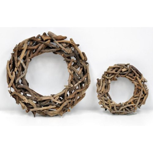 Decorative Wood Wreath - 51cm x 51cm x 9cm
