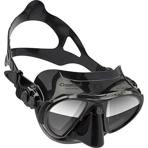 Cressi Nano Expert Adult Compact Mask For Freediving Scuba Diving Black