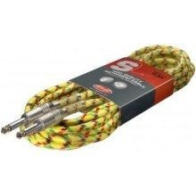 Stagg Sgc Vintage Tweed Guitar Cable (6m/20ft, Yellow) - Sgc6vt Yl
