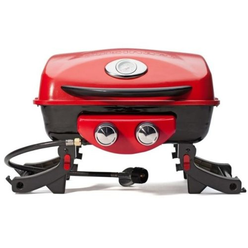 18 in. dia. Dual Blaze Two Burner Gas Grill - Legs Fold Up