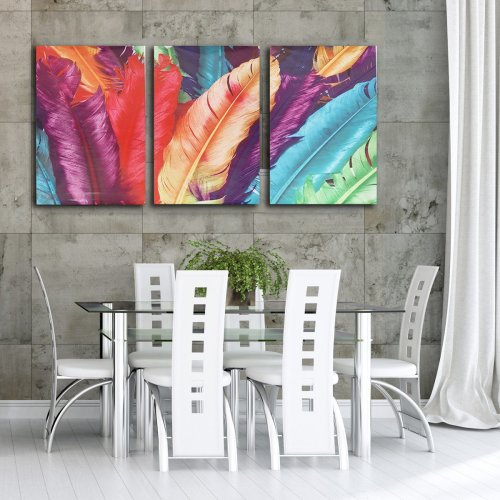 3 Cascade Huge Modern Abstract Canvas Painting Decorative Wall Picture Home Decoration Unframed