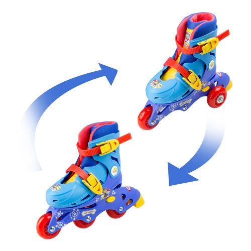 PAW PATROL 2-in-1 Tri to Inline Roller Skates, Size 9-11.5 (OPAW084)