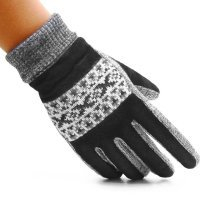 Mens Windproof Warm Pig Skin Gloves