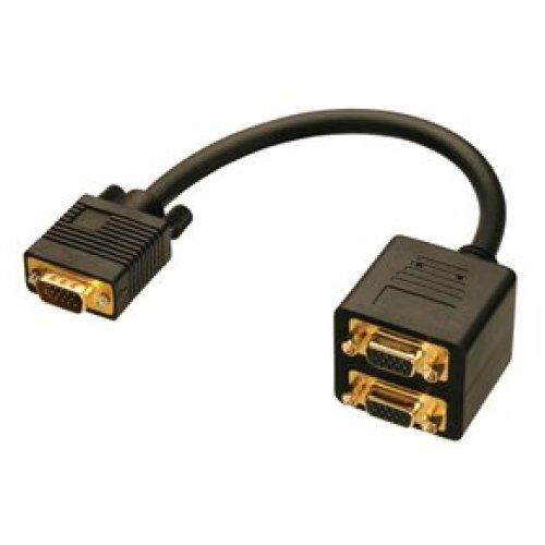 Lindy VGA Splitter Cable VGA cable 0.18 m VGA (D-Sub) Black