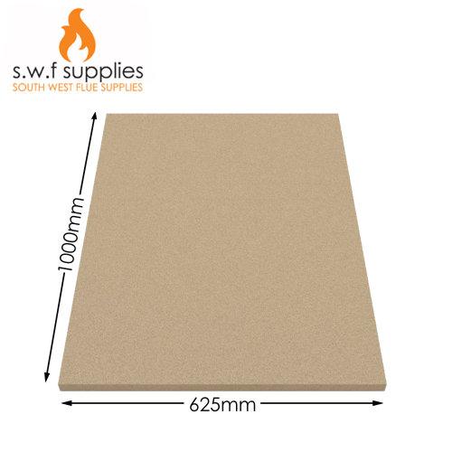 2x Vermiculite Fire bricks Fire Board Heat Proof Brick Fireboard Stove1000x625mm