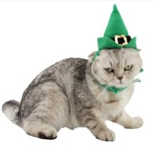 Green Christmas Cats Hats Pet Santa Hat