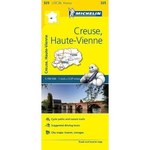 Creuse, Haute-Vienne - Michelin Local Map 325 (Michelin Local Maps)