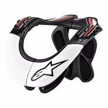 L/xl Black, White & Red Alpinestars Bionic Neck Support - Pro Bns Motocross -  neck alpinestars pro support bns bionic motocross