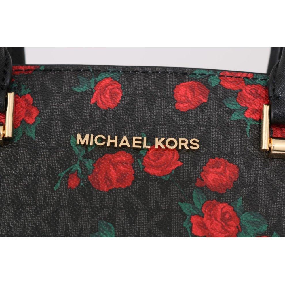 28f321b19db3 ... Michael Kors Handbags Black Red SELMA Leather Messenger Bag - 5. >