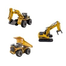 deAO 2.4 GHz Metal Remote Control Construction Vehicle - with Rechargeable Batteries