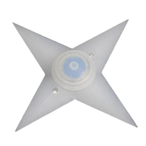 TRIXES Blue LED Flashing Bike Spoke Ninja Star Lights Pair 3 Mode Flash Setting Side Fun Visibility Cycle Accessory