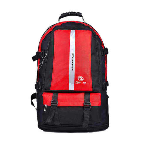 Classic College School Laptop Backpack Lightweight Nylon Travel Backpack Red