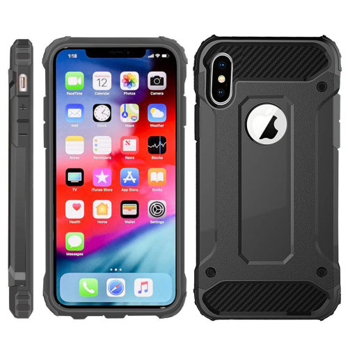 iPro Accessories iPhone Xs Max Case, iPhone Xs Max Cover, [Survivor] Military-Duty Case - Shockproof Impact Resistant Hybrid Heavy Duty [armor case] Dual Layer Armor Hard Plastic Bumper Protective Case