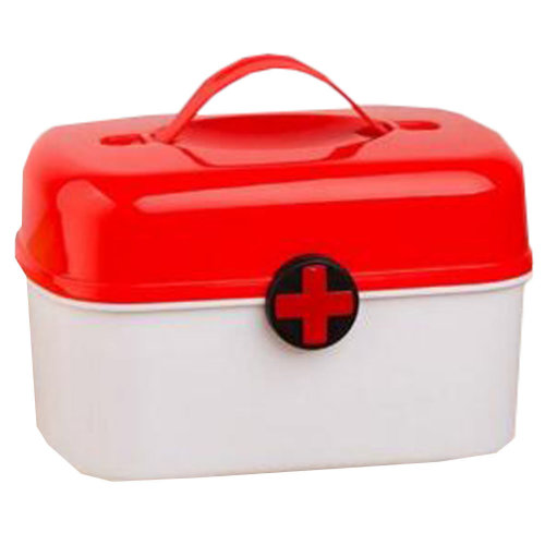 Portable Household First-Aid Kit/Medicine Storage Box Pill Organizer Red