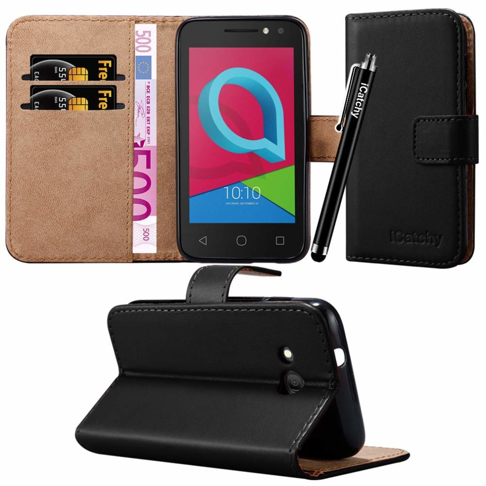 size 40 de75d a93ac For Alcatel U3 3G (4049x) Leather Wallet Flip Case