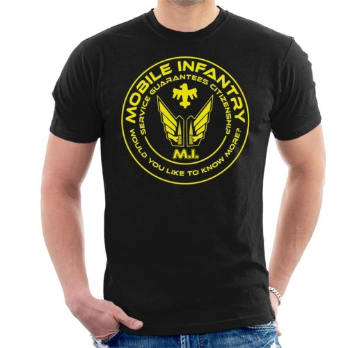Mobile Infantry Starship Troopers Yellow Men's T-Shirt