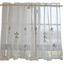 Sweet Embroidered Curtain Kitchen Curtain Coffee Screens- 03