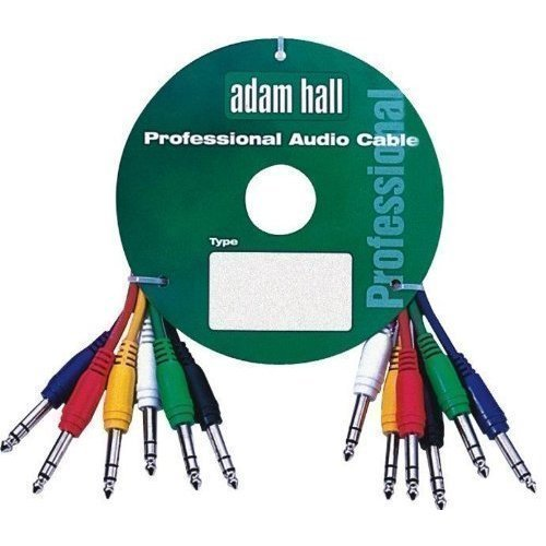 Adam Hall 0.9m stereo balanced jack to jack patch cables. 6 pack