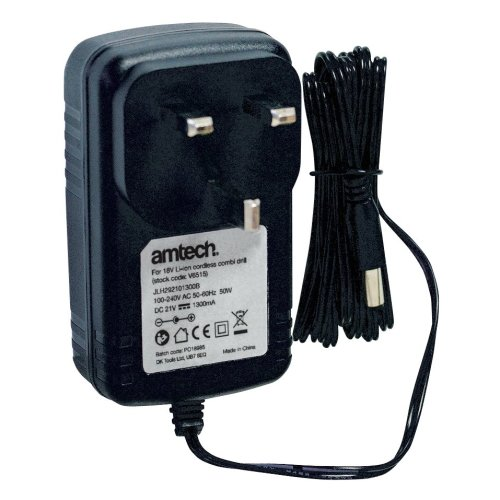 Am-tech V6911 1hr Fast Charger For 18v Combi Drill & Impact Driver ( For Amtech -  drill 18v battery fast charger v6915 cordless combi v6920 14 impact