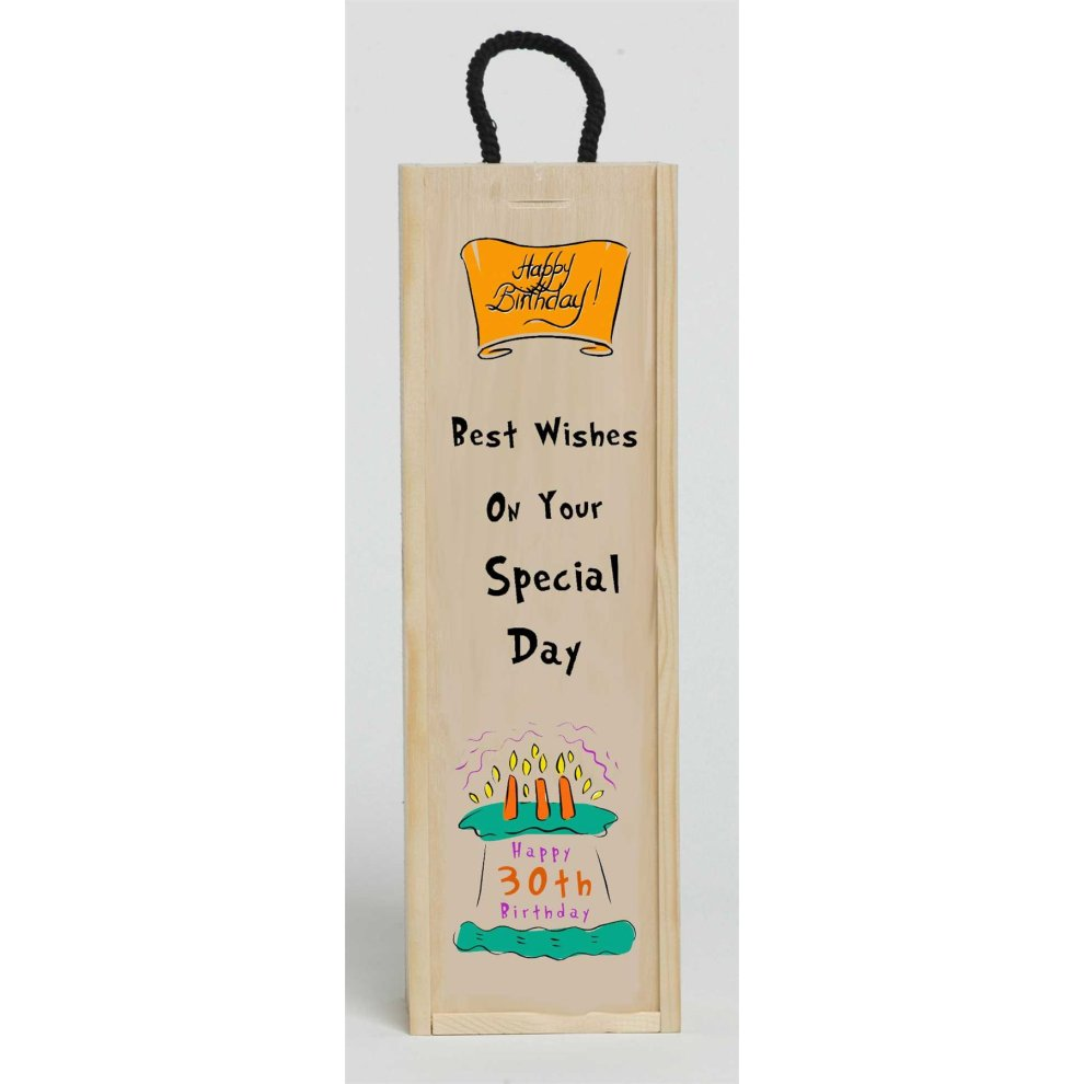 30th Birthday Best Wishes Wine Box