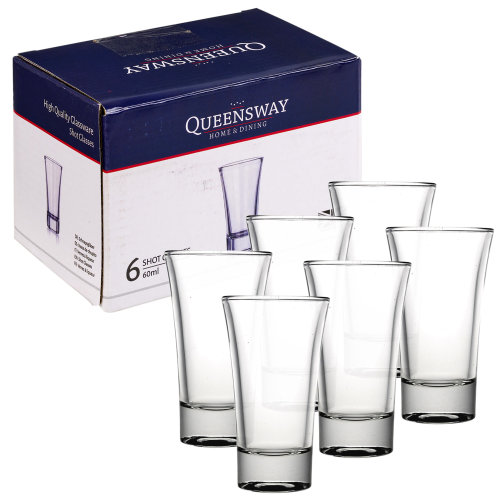 Set Of 6/12 60ml Queensway Shot Glasses Bar Party