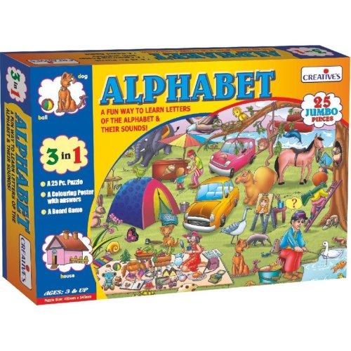 Pre-school Alphabet Reading Puzzles - Cre0984 Creative Preschool -  cre0984 creative preschool alphabet puzzles