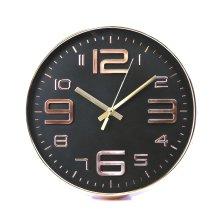 Black Embossed Rouan Copper Clock