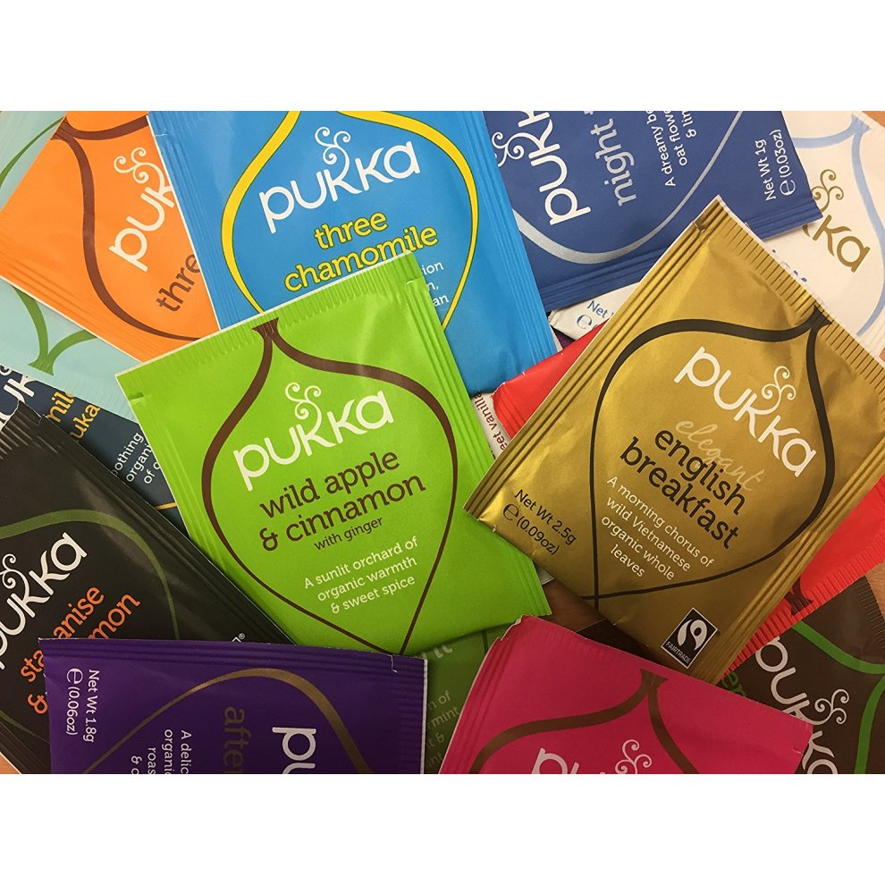 Pukka Herbal Organic Tea - Selection of 40 Sachet - Sample Taster Pack