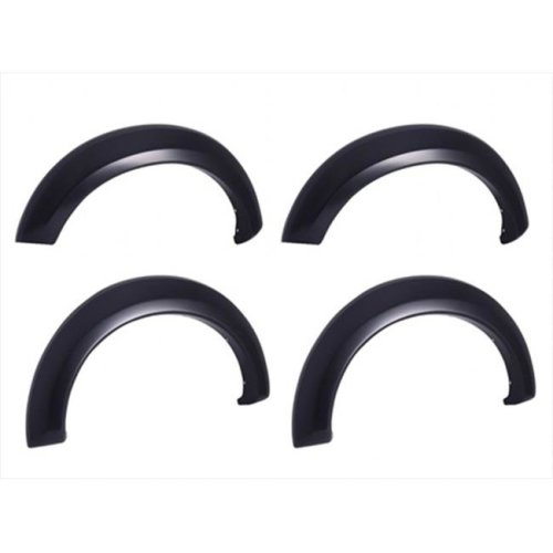 EGR 753815 Rugged Look Fender Flare Set of 4 No-Drill - Front And Rear - Matte Black Finish