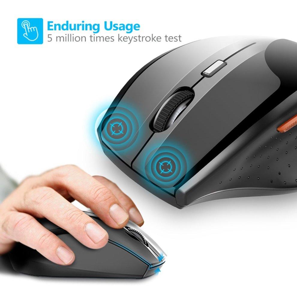 a30ba9c85fd ... TeckNet M002 TrueWave 2.4G Wireless Mouse - Black - 3 ...