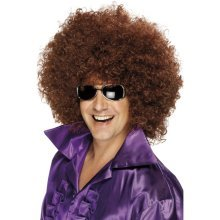Smiffy's Adult One Size -  afro wig brown fancy dress disco mega huge 1970s smiffys