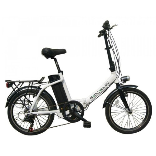 Byocycles Chameleon LS Folding 10Ah Electric Bike Step Through 6 Speed White