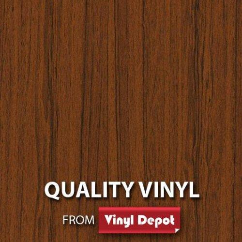 Alkor Sticky Decorative Self-Adhesive Wood Vinyl Fablon Teak Medium 450mm/m