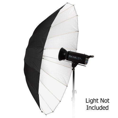 Fotodiox Pro 16 Rib 60 Black and White Reflective Parabolic Umbrella with Neutral White Diffusion Cover