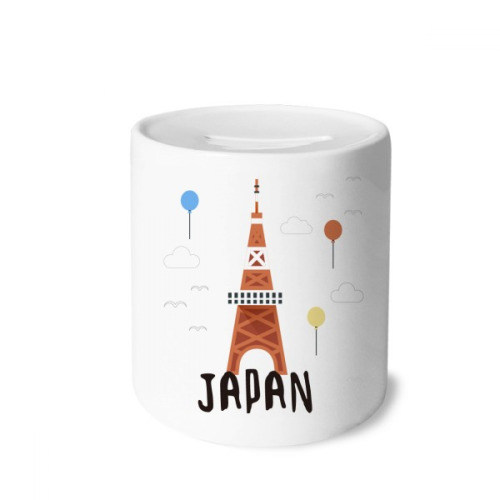 Local Japanese Travelling Tyoko Tower Money Box Saving Banks Ceramic Coin Case Kids Adults