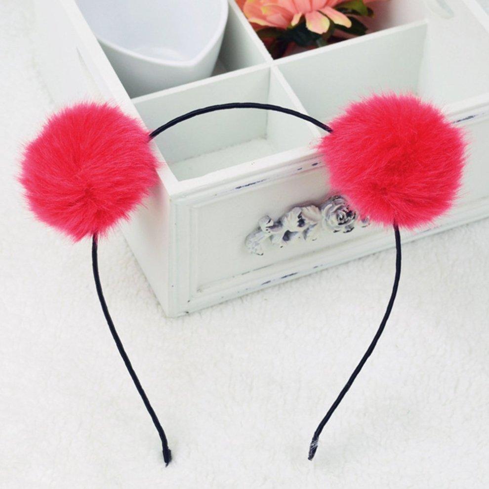 ... Frcolor Pom Pom Ball Cat Ear Haiband Faux Fur Headband for Kids Children  Toddler Girls 3PCS ... 022bd300164