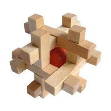 2 PCS Challenging Wood Brain Teaser Puzzle Disentanglement Puzzles, Style 5