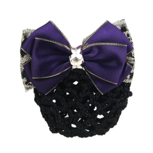 Elegant Ladies Hairnet Bowtie Barrette Hair Clip Snood Net Professional Hairdressing, I