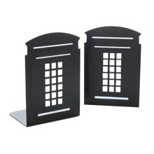 Cartoon Iron Bookcase Creative Thicker Baffle-Mailbox Black