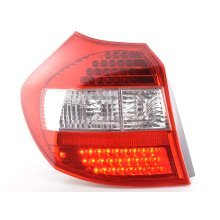 Led Rear lights BMW serie 1 type E87 5-door Year 04-07 clear/red