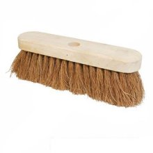 "10"" Soft Coco Bristles Broom - 10 Silverline 254mm 868766 -  broom soft 10 coco silverline 254mm 868766"