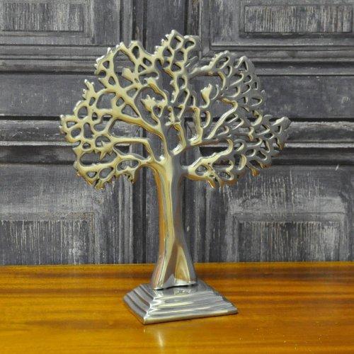 Silver Metal Decorative Table Tree 38cm Shelf Sitter Ornament Decor
