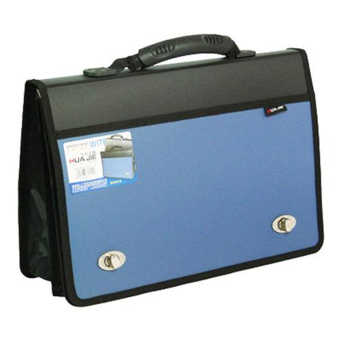 Large capacity Storage Laptop Bag Document Organizer Briefcase (38x26X3cm) BLUE