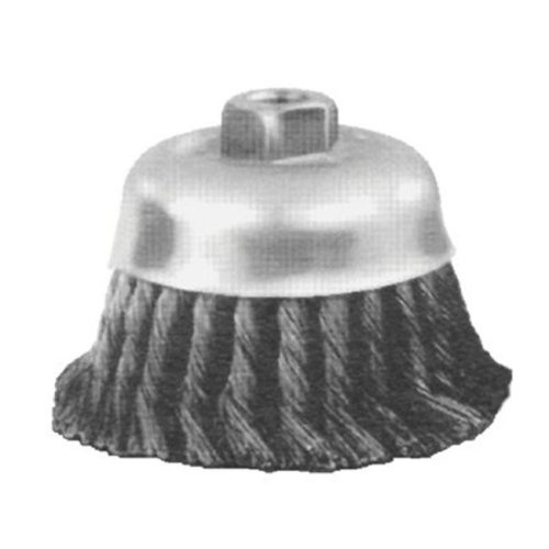 4 Inch Knot Cup Brush .023Cs Wire 5-8-11
